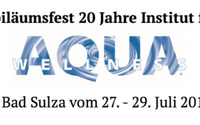Jubiläumsfest – 20 Jahre Institut für Aqua Wellness