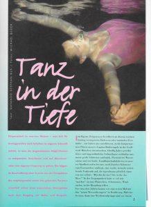 Auszug aus Inhalt der 1.Ausgabe: Tanz in der Tiefe